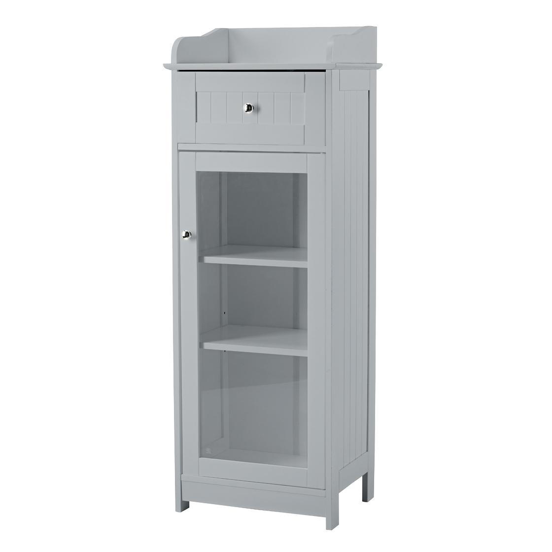 Alaska Glass Cabinet Grey