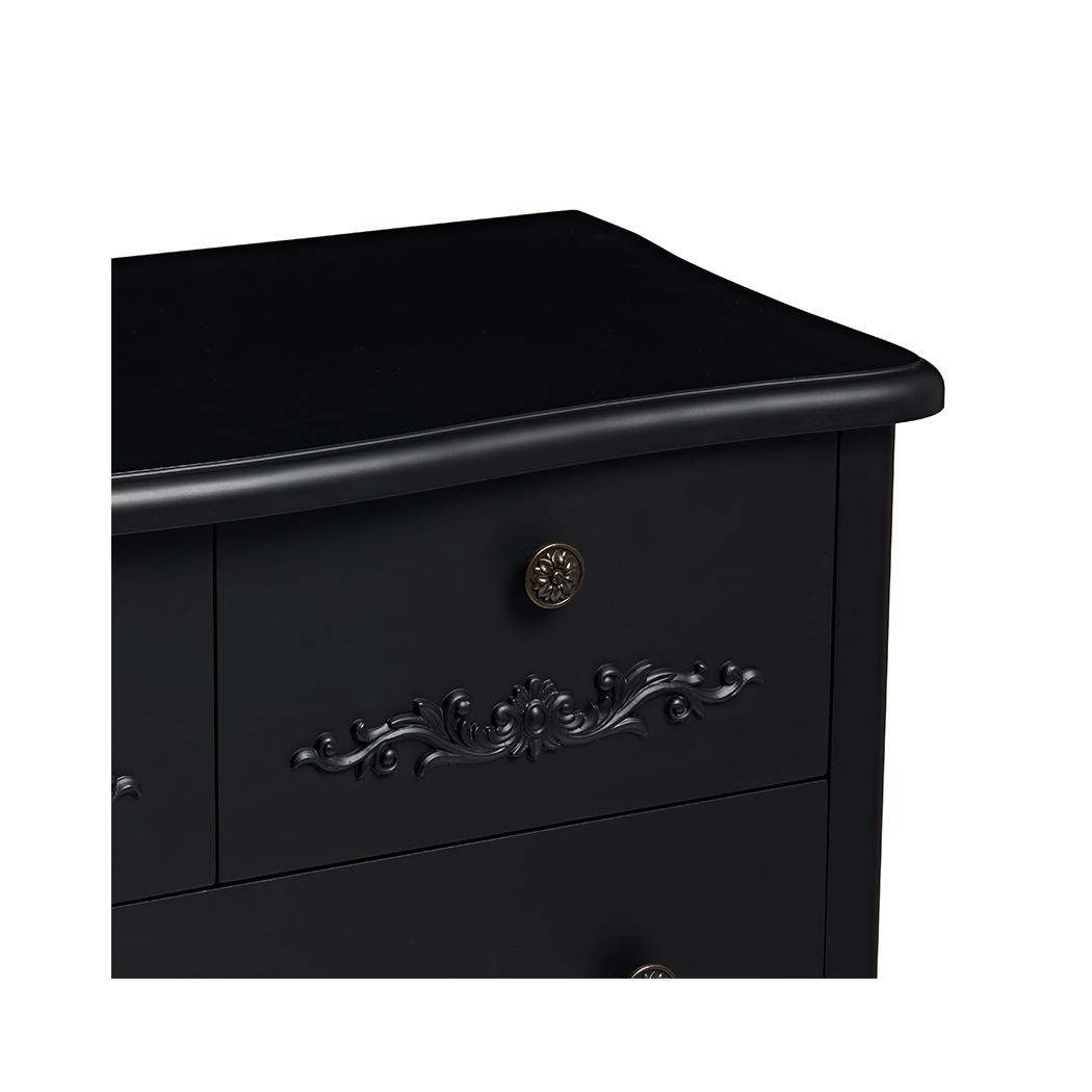 Antoinette 5 Large Drawer Chest Black
