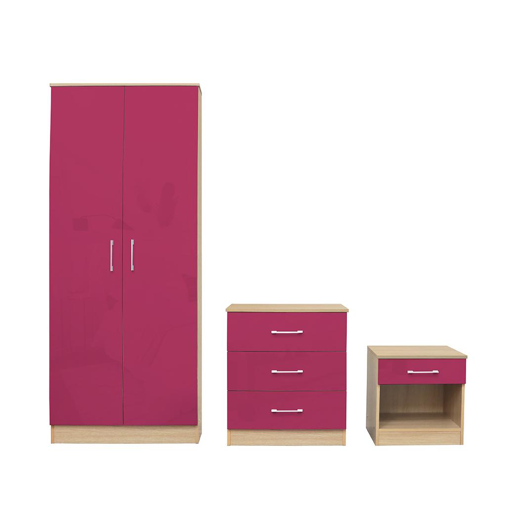Dakota Bedroom Set Pink