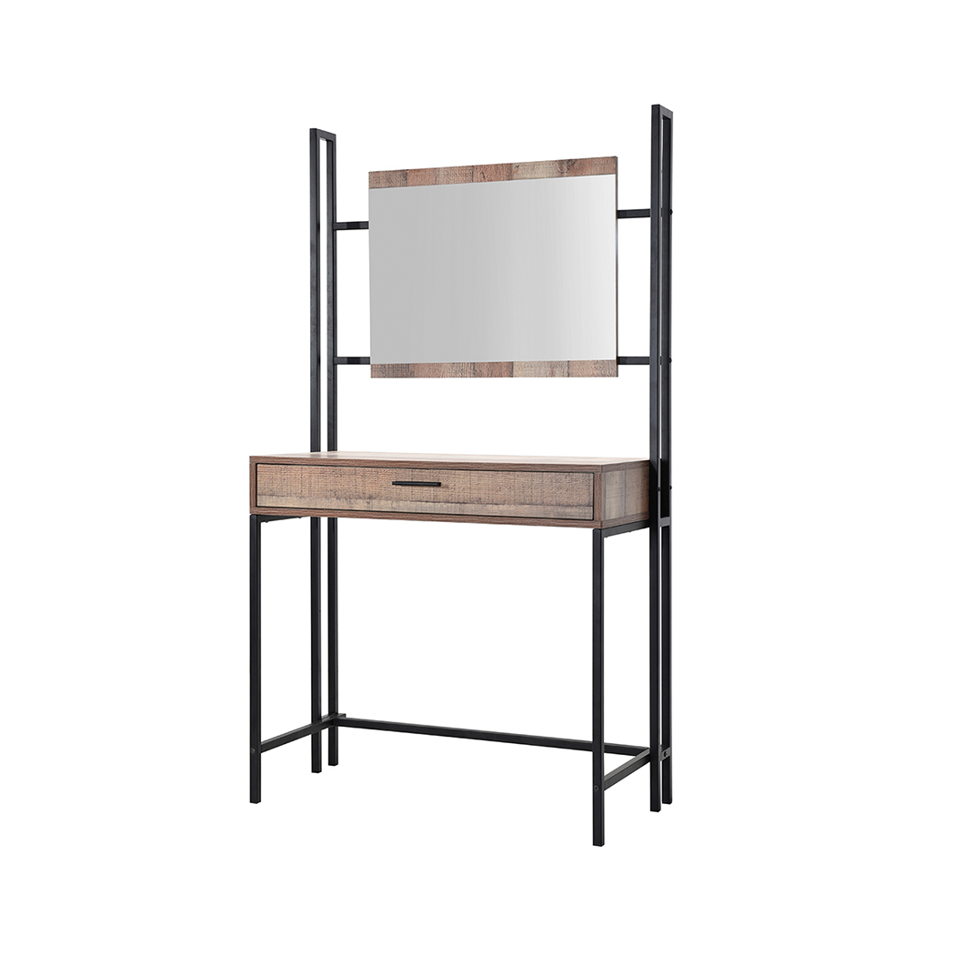 Hoxton Dressing Table and Mirror Distressed Oak Effect