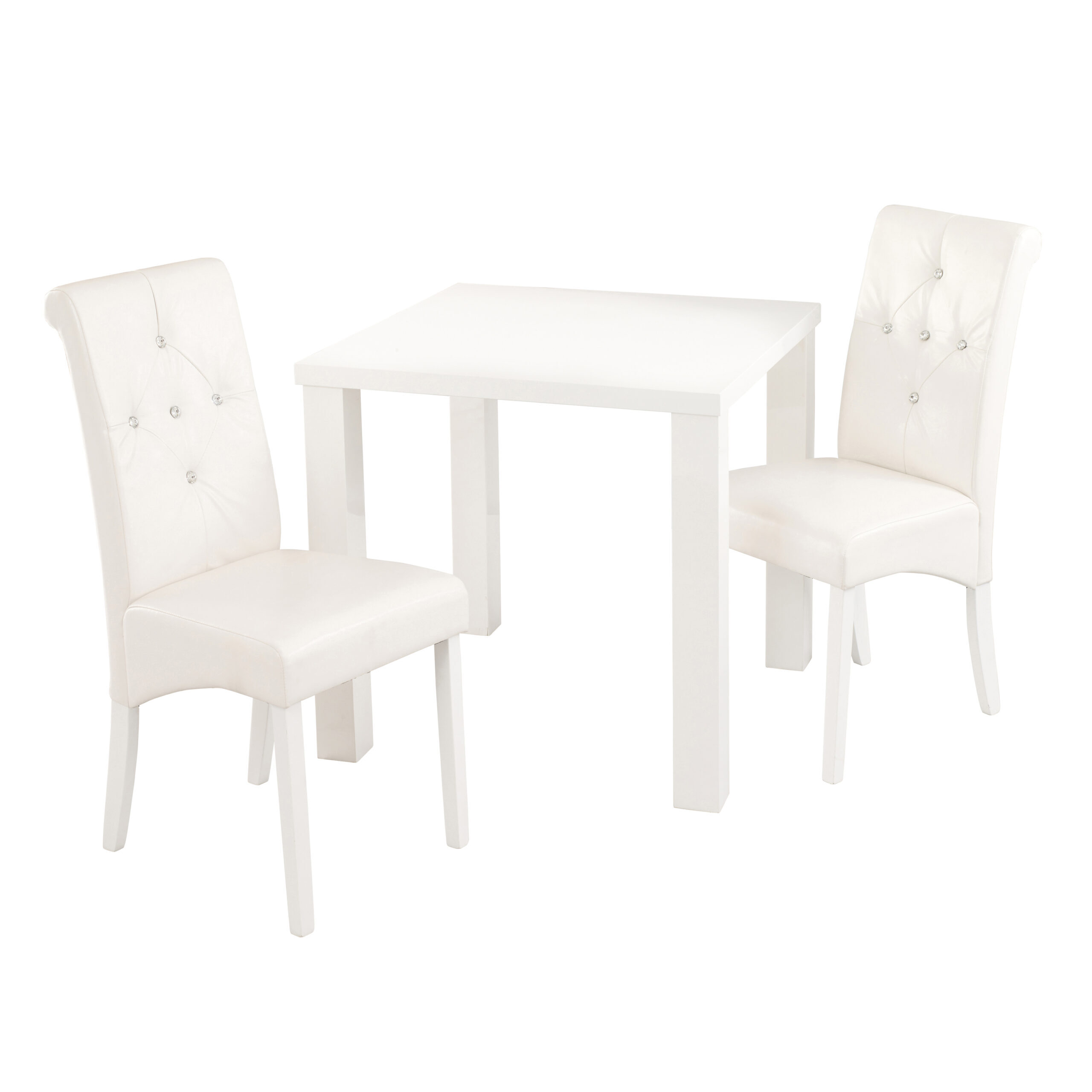 Monroe Diamante Chair White (Pack of 2)