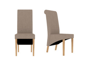 Amelia Dining Chair Beige (Pack of 2)
