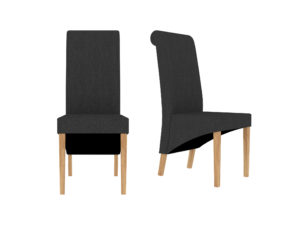Amelia Dining Chair Charcoal (Pack of 2)