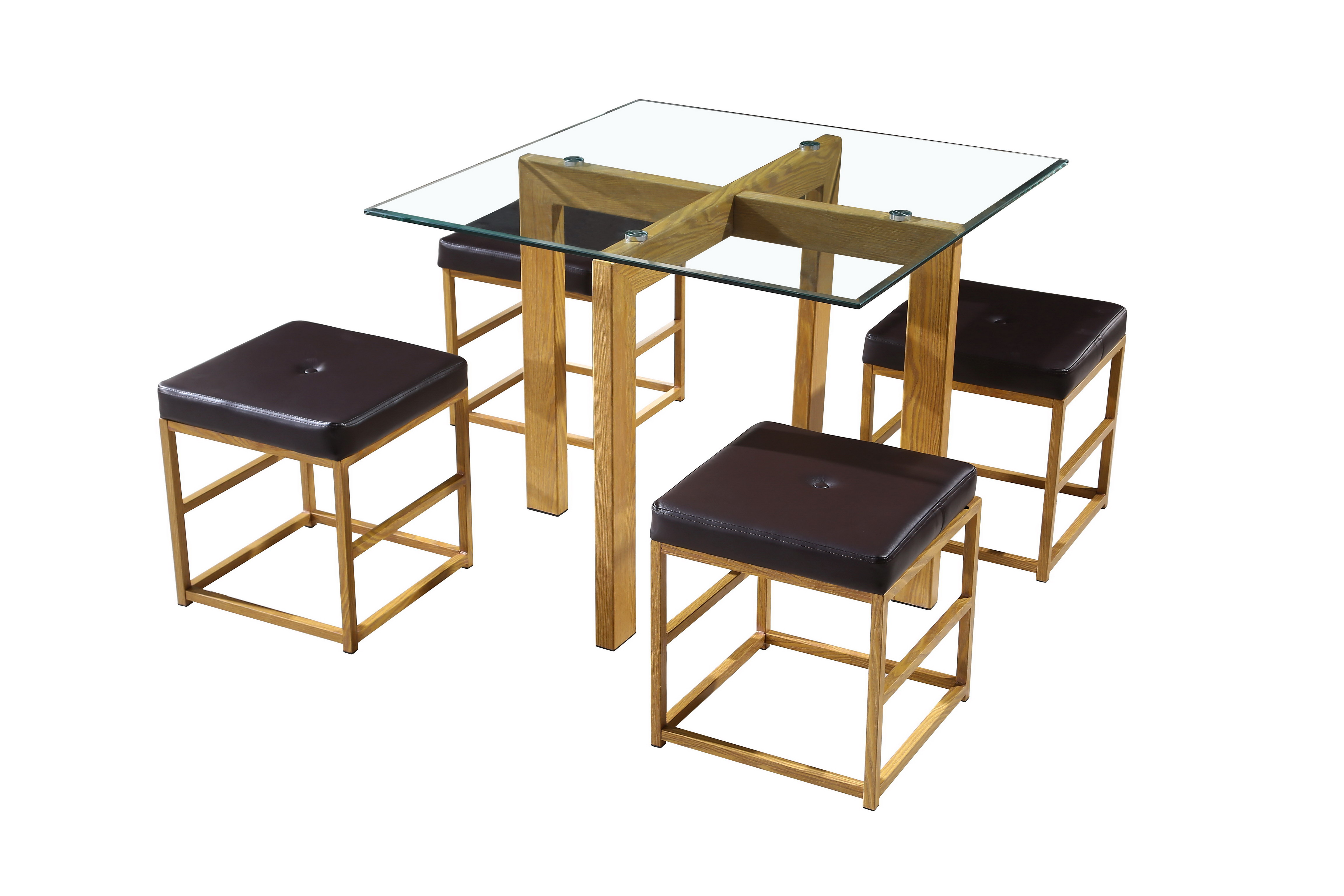 Cube Dining Set Brown
