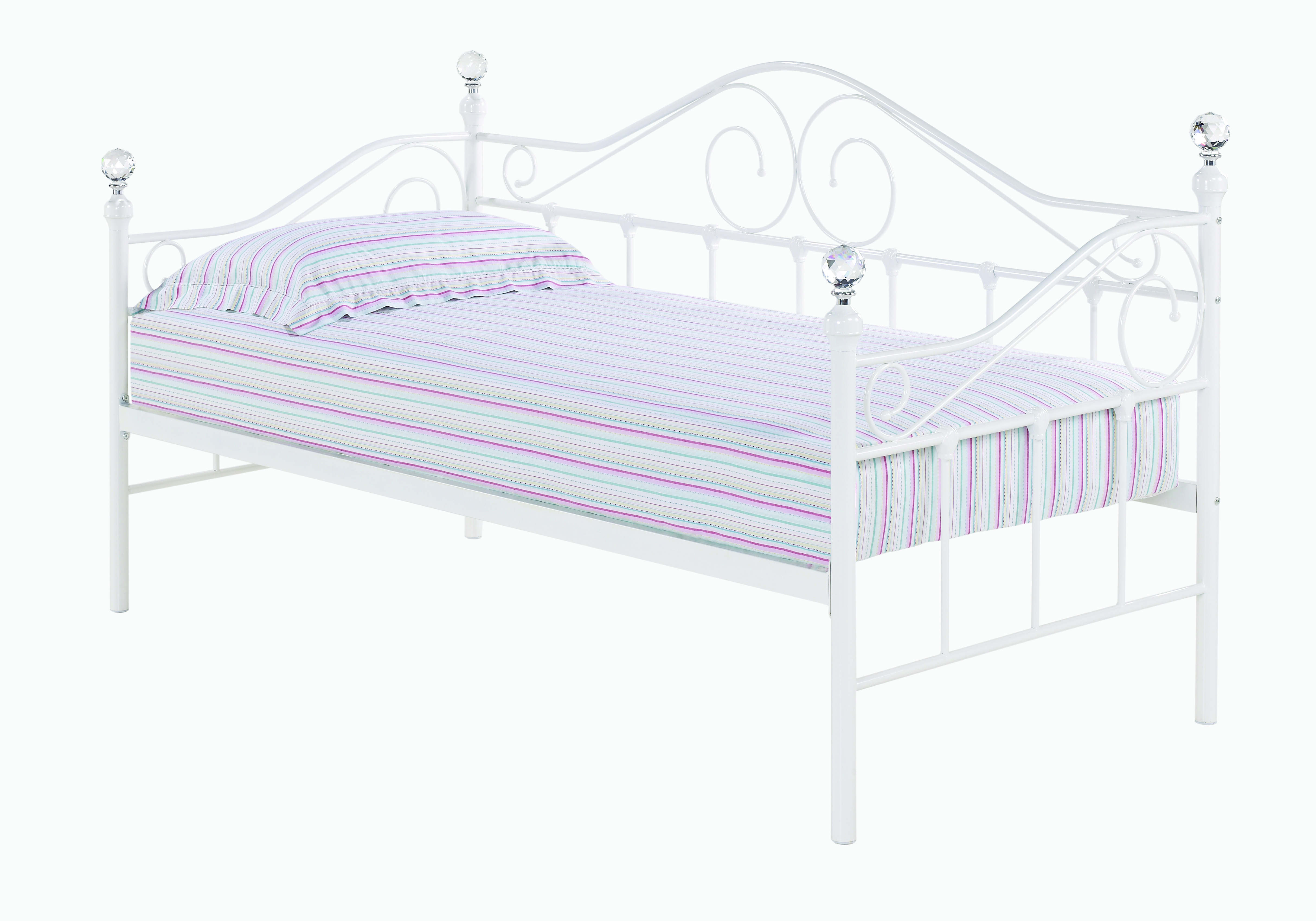 Florence Day Bed White (Trundle sold separately)