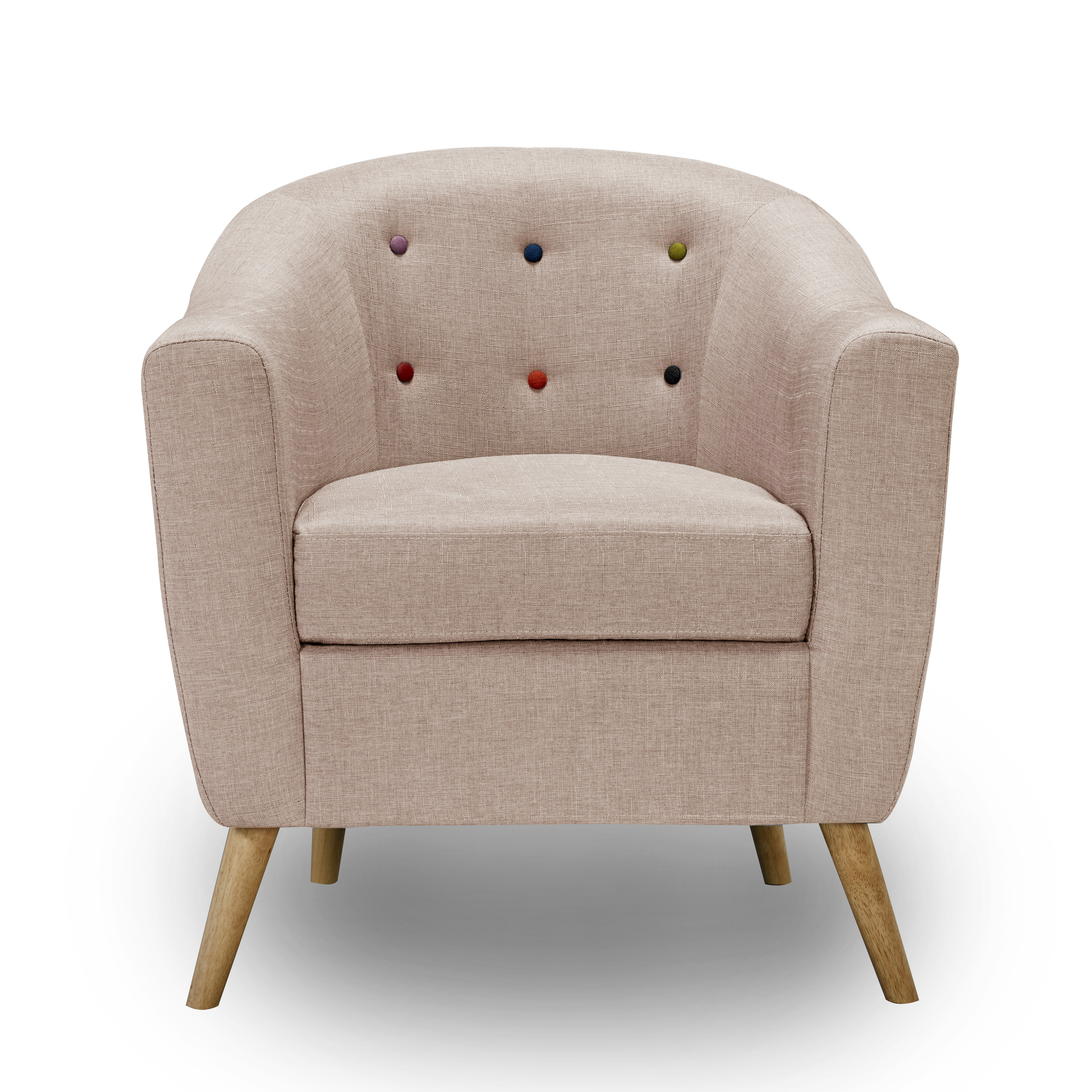 Hudson Chair With Buttons Beige