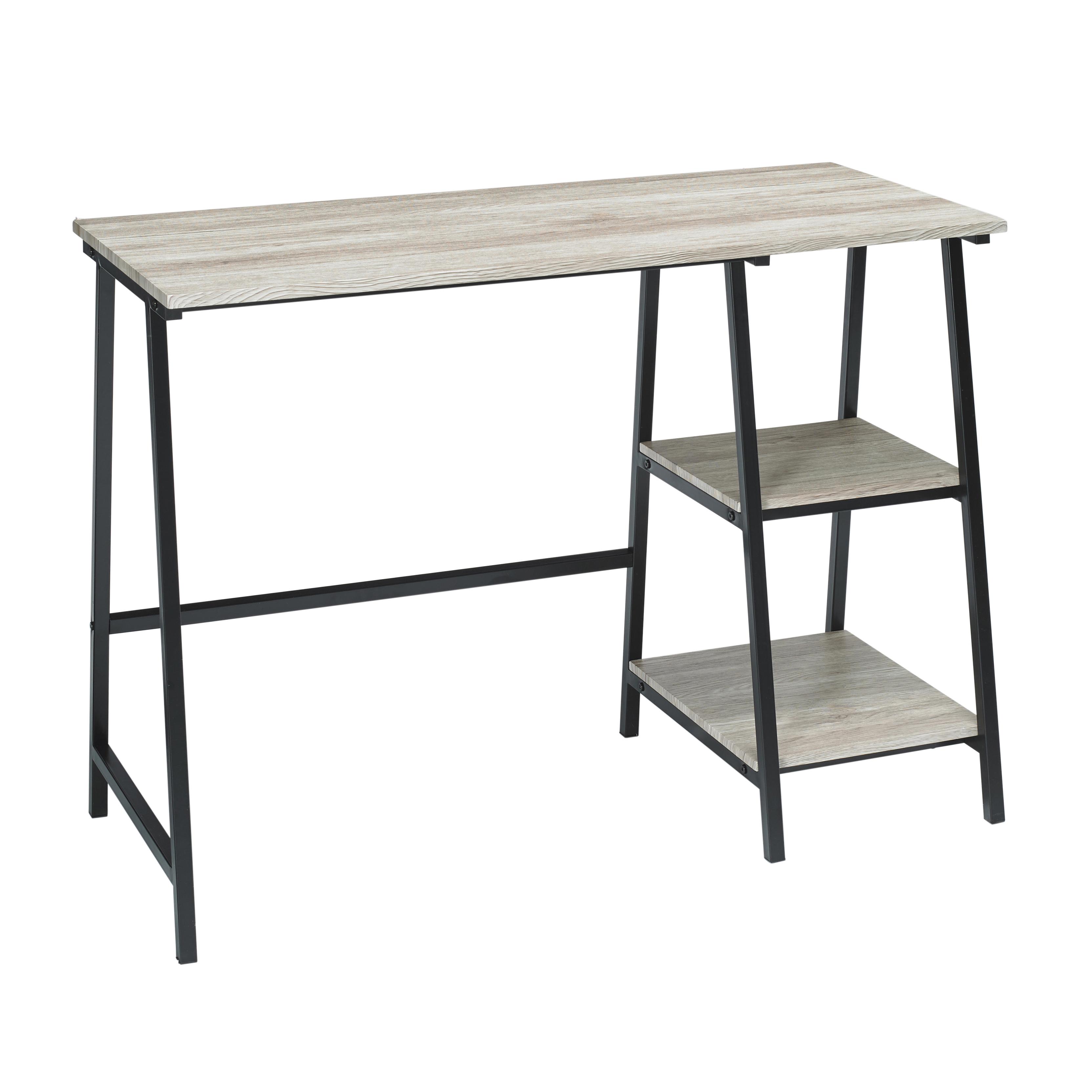 Kyoto Desk Black Frame-Oak Top