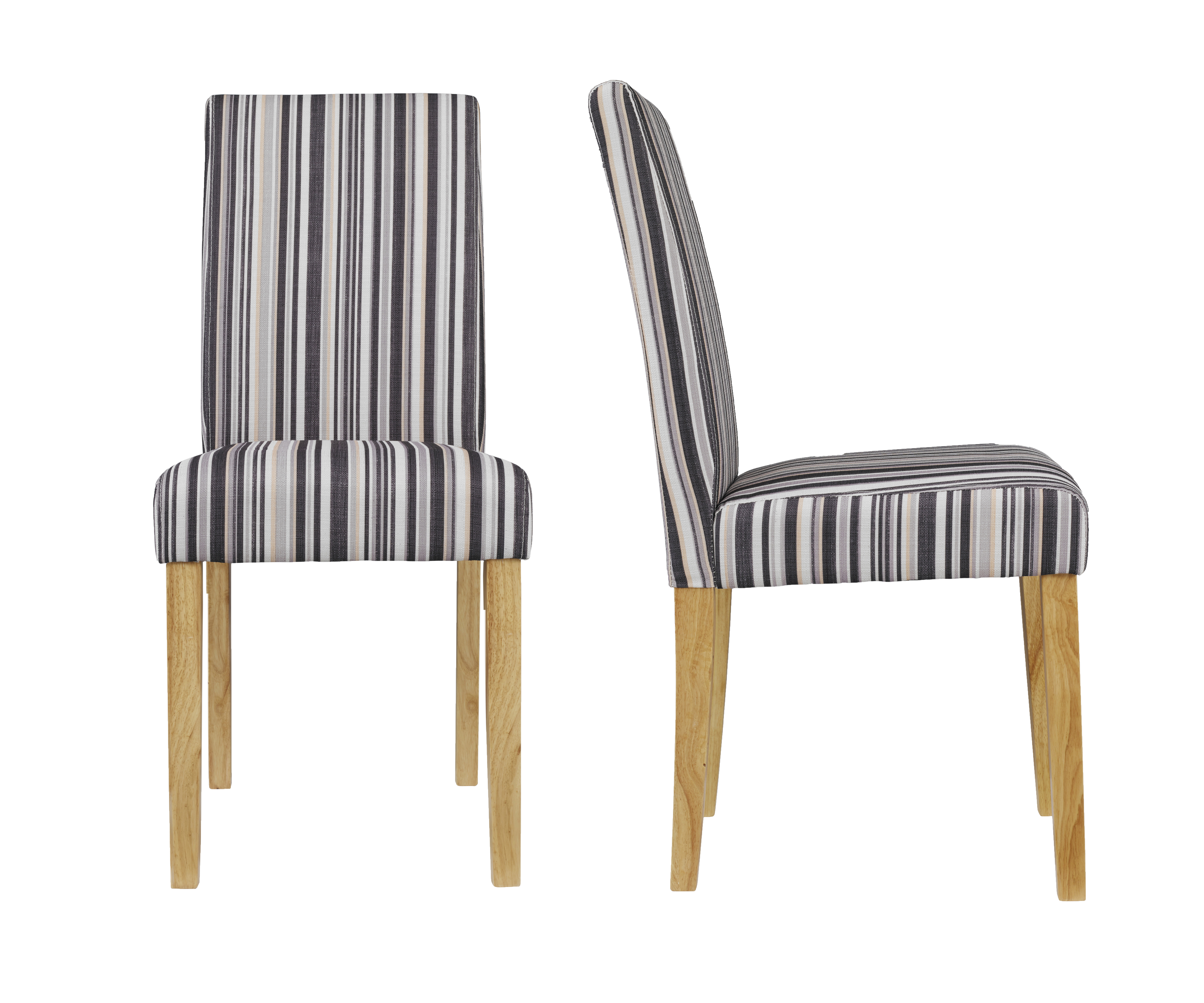 Lorenzo Dining Chair Striped (Pack of 2)