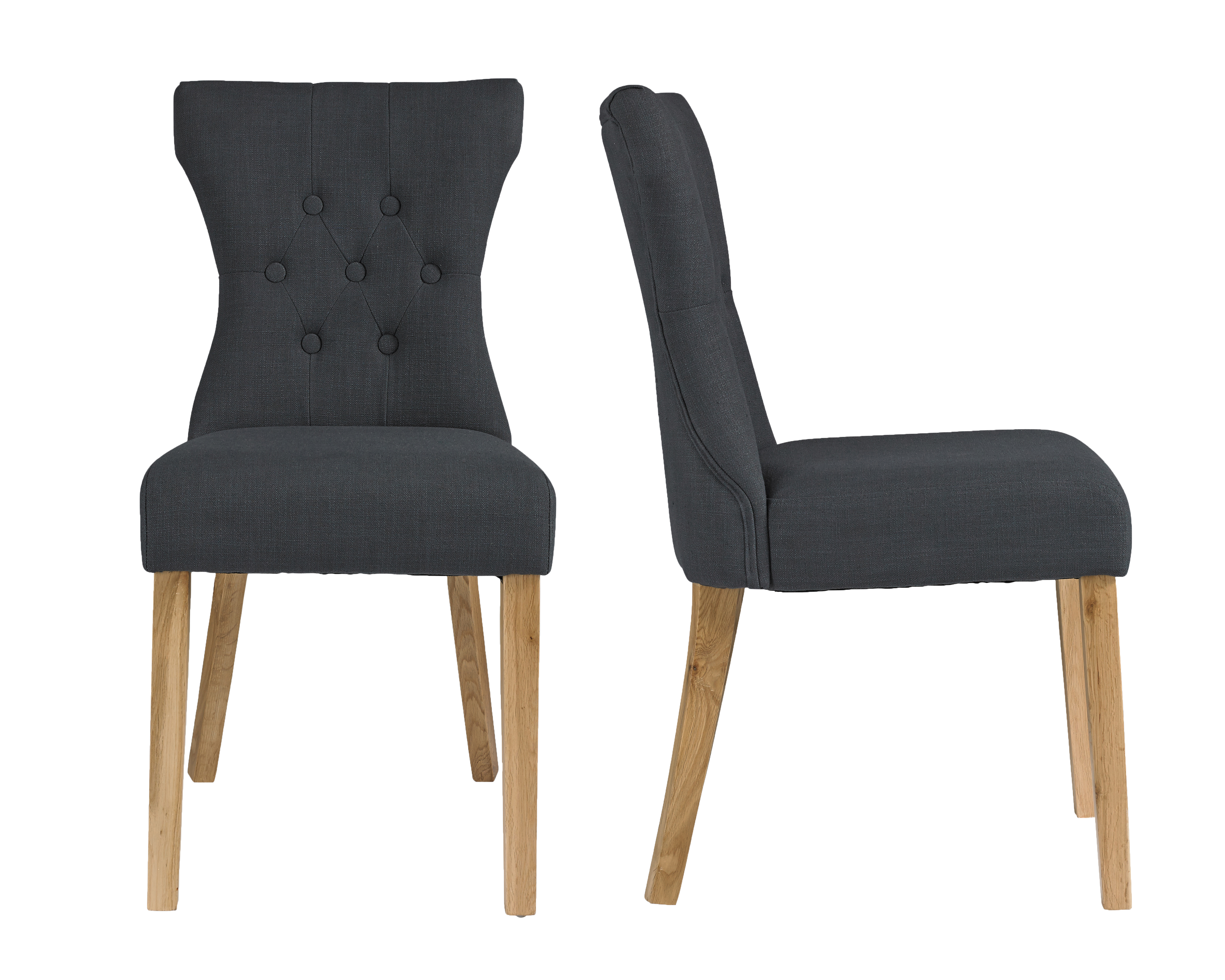 Naples Dining Chair Grey (Pack of 2)