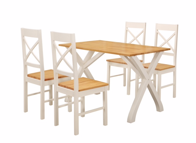 Normandy Dining Set White