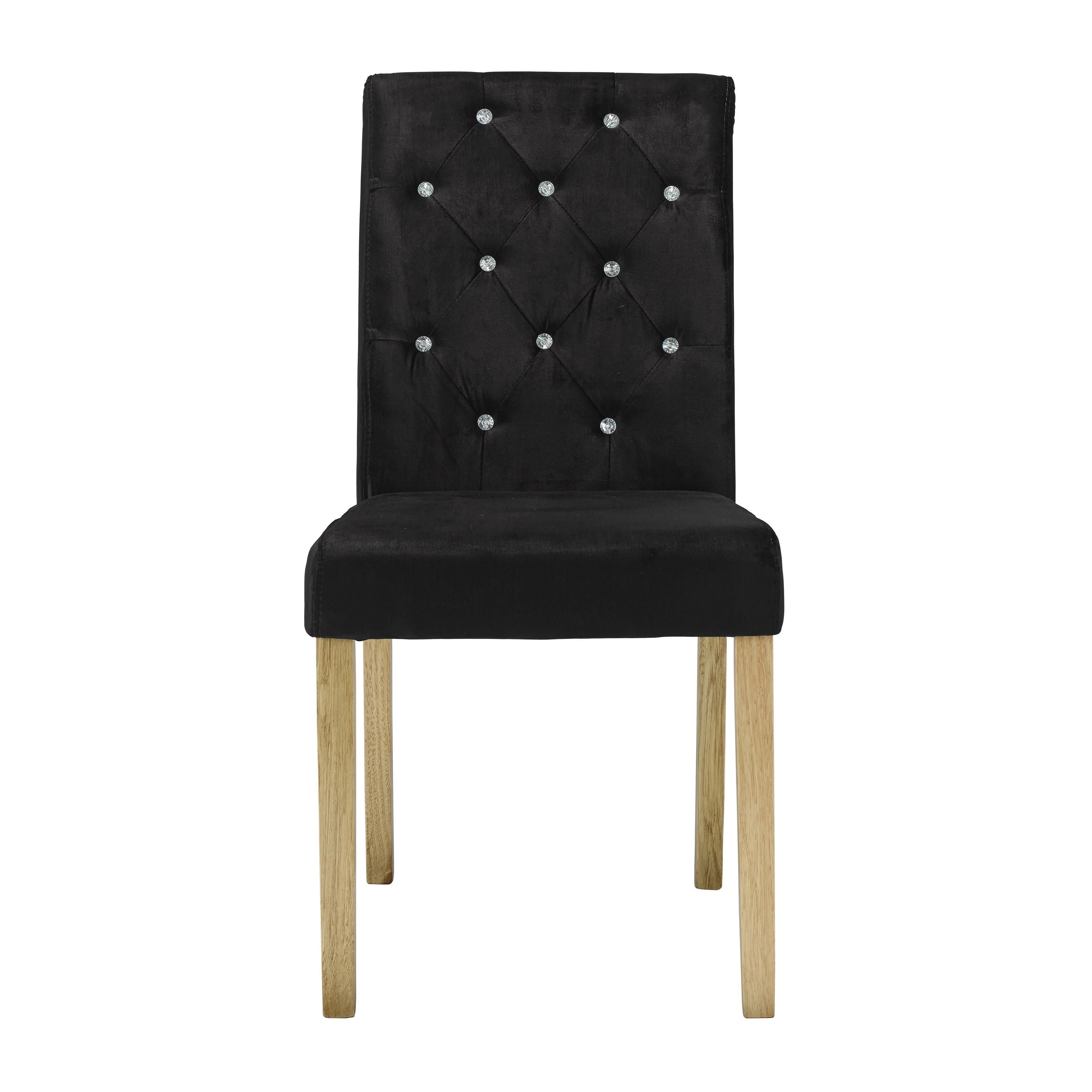 Paris Chair Black Velvet (Pack of 2)