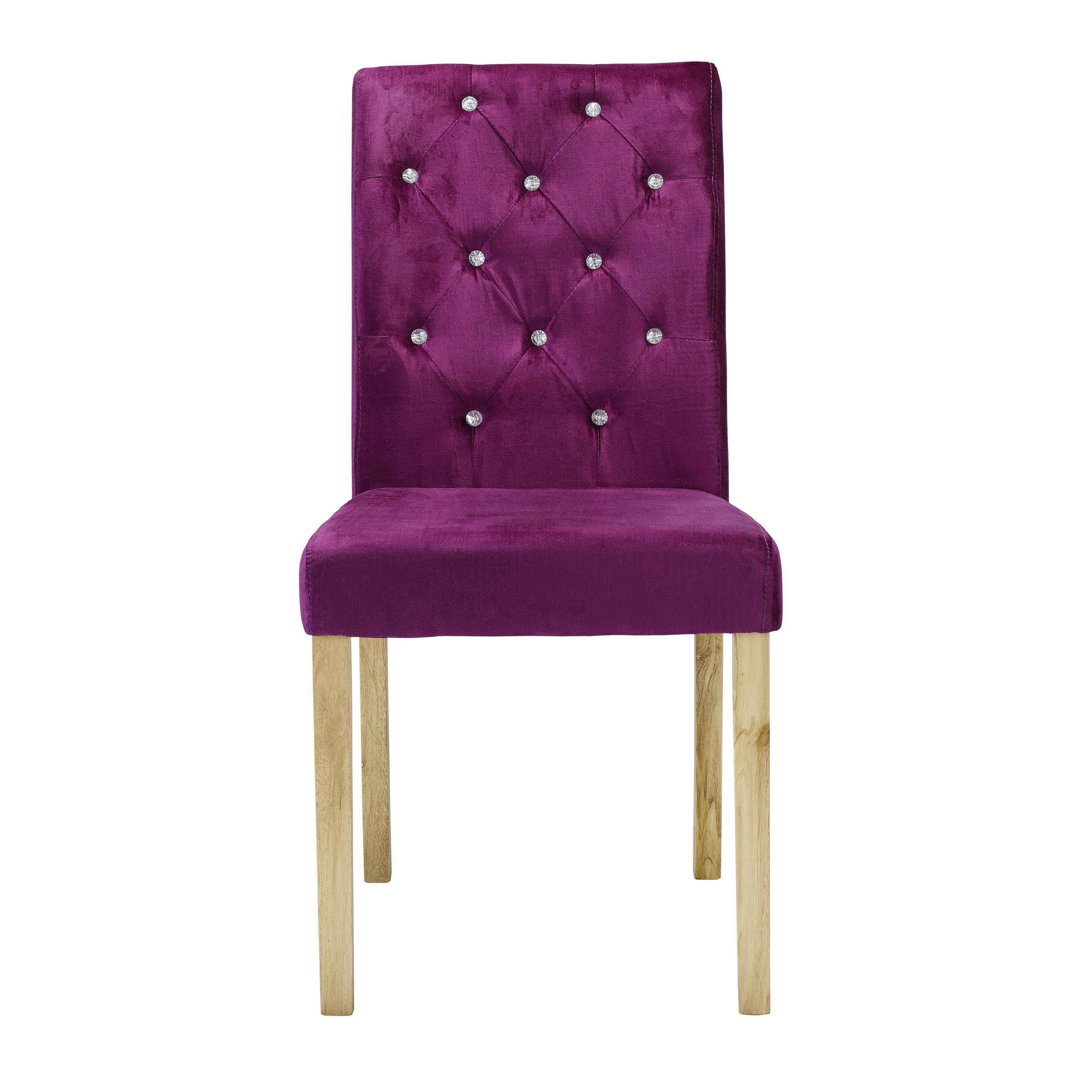 Paris Chair Purple Velvet (Pack of 2)