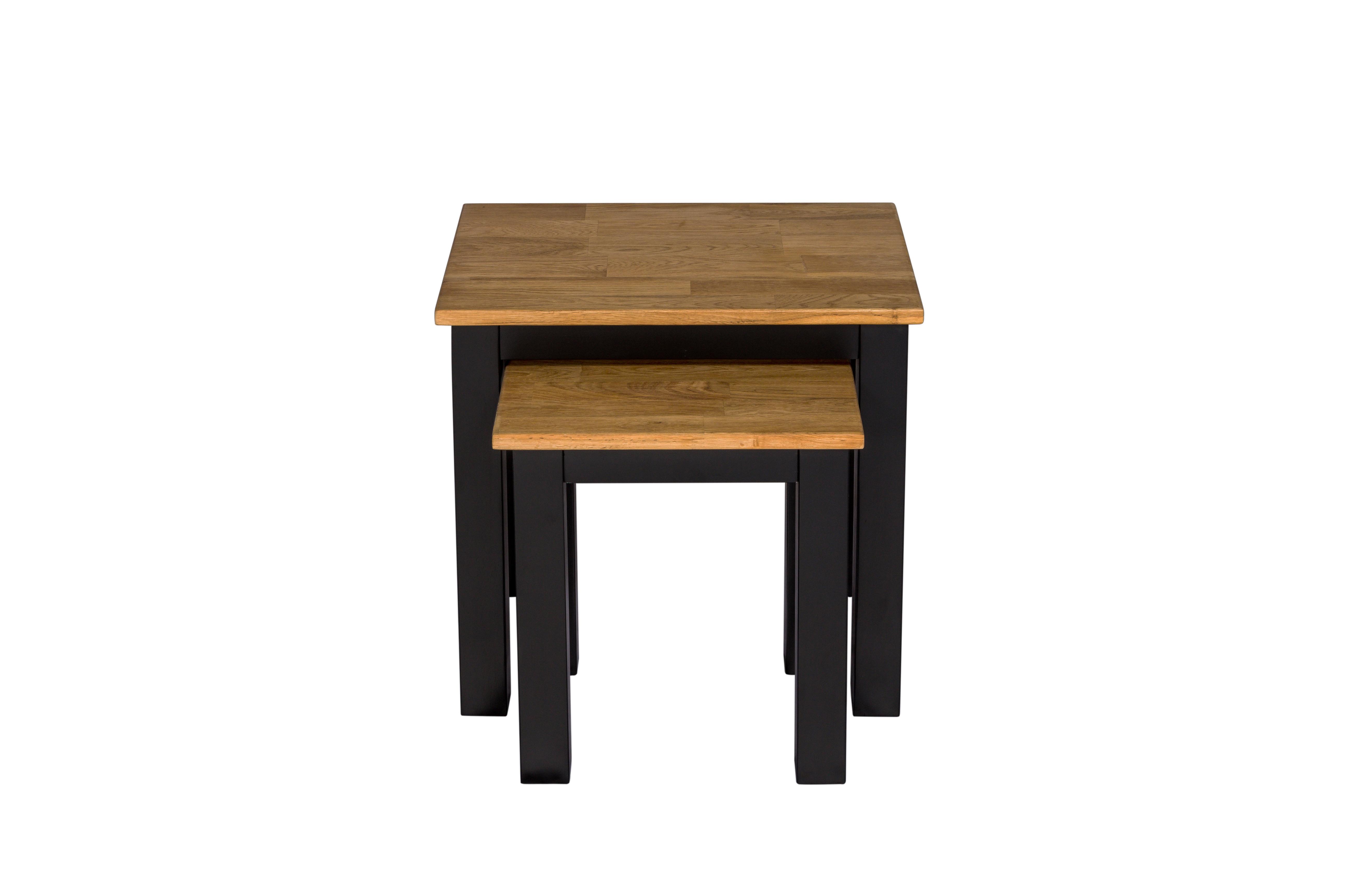 Copenhagen Nest of Tables Black Frame-Oiled Wood